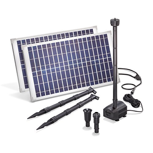 Solar Teichpumpe 50 Watt Solarmodul 1750 l/h Förderleistung 3,0 m Förderhöhe esotec Professional...
