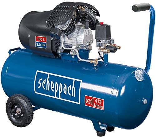 scheppach HC120DC Druckluft Kompressor I 10 bar I 100 Liter Kessel | 3PS - 2,2 kW | Doppelzylinder...