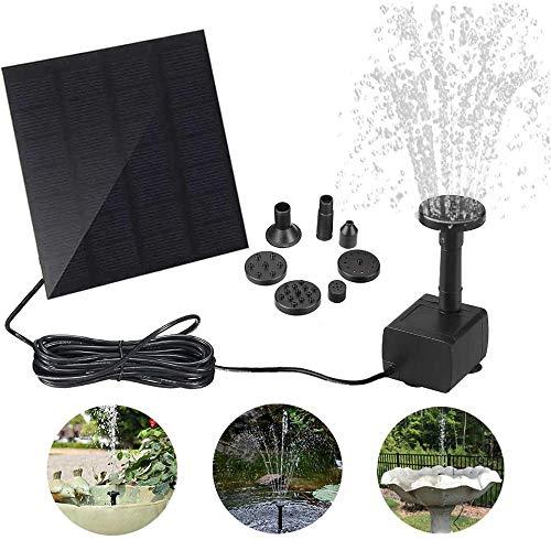 Vivibel Solar Springbrunnen, Solar Wasserpumpe Solar Teichpumpe, Solar Schwimmender Fontäne Pumpe mit 6 Fontänenstile für Garten, Vogel-Bad,Teich,Fisch-Behälter