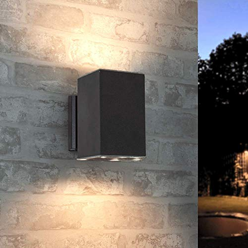 Dekorative Solar LED Wandleuchte Up & Down Light für außen gerades Model IP65 Schutz Kunststoff