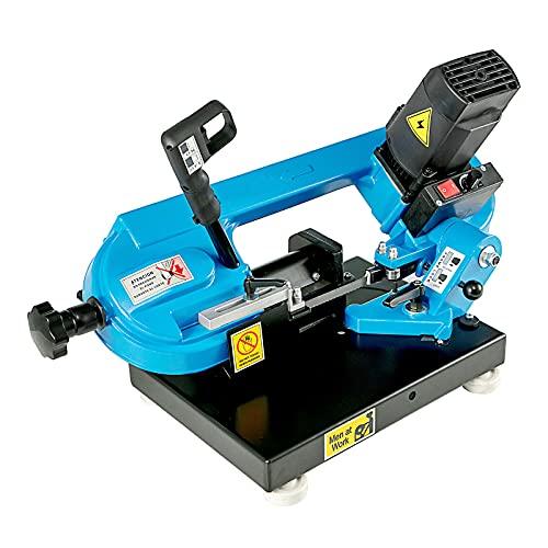 220v 1000W Tisch-Metallbandsäge, 40-88MPM stufenlose Geschwindigkeitsregelung Bandsäge zum Schneiden von Holz, Metall, Glasfaser, Kunststoff