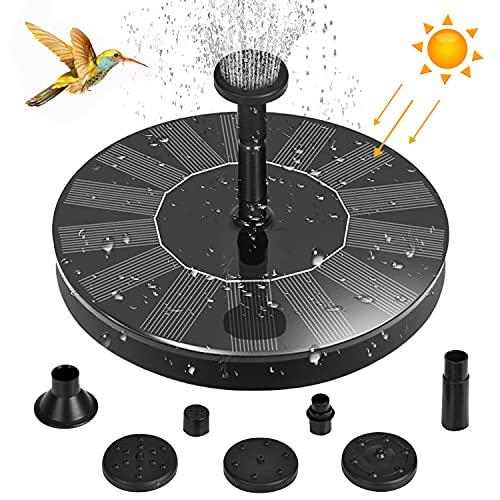 Bcamelys Solar Springbrunnen 2021 Upgrade,solar springbrunnen für Garten,mit 6 Effekte Solar Wasserpumpe Solar schwimmender Fontäne Pumpe für Gartenteich Oder Springbrunnen Vogel-Bad Fisch-Behälter