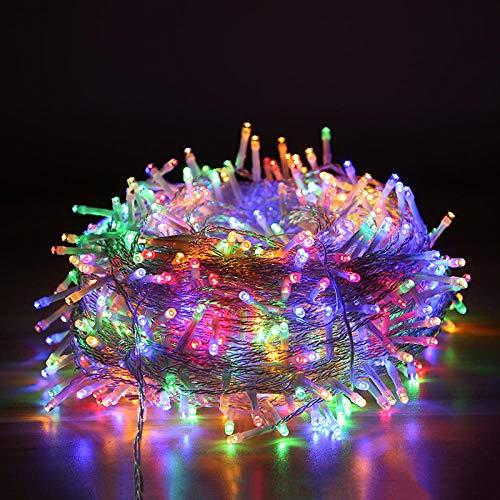 Lichterkette im Freien Solar Kupferdrahtschnur Märchen dekorative Kupferdraht Märchen Nachtlicht Dekoration Licht - Farbe-50m500lights