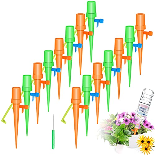 Automatisch Bewässerung Set, 15 Stück Einstellbar Pflanzen Bewässerungssystem mit Langsam Entriegelbarem Steuerventil, Bewässerungssystem Topfpflanzen für Gartenp Balkon Pflanzen Bewässerung Urlaub