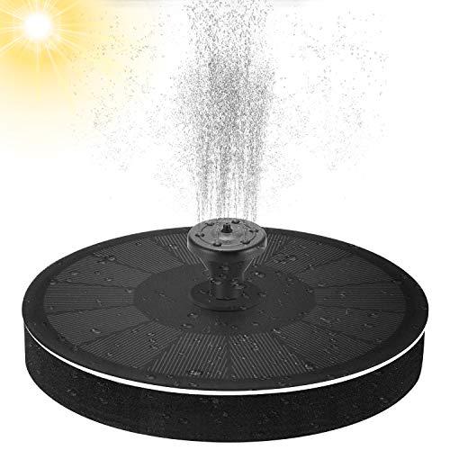 Cali Jade Solar Springbrunnen für Außen 2021 Upgrade mit 2.2W Solar Panel mit 7 Fontänenstile, Wasserpumpe Solar Schwimmender Fontäne Pumpe für Garten, Vogel-Bad,Teich,Fisch-Behälter