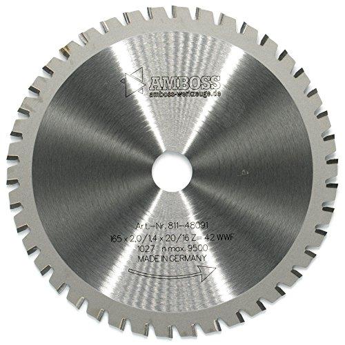 AMBOSS Werkzeuge Universal Sägeblatt - 165 x 20/16 mm (42 Zähne) - Zum Sägen von Holz, Metall & Kunststoff...