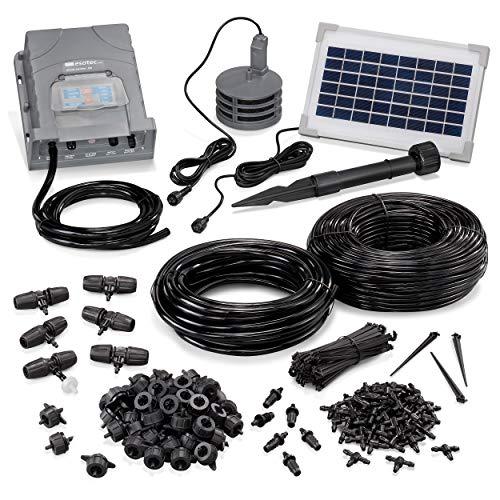 esotec Solar Bewässerungssystem WaterDrops Professional - automatische Tröpfchenbewässerung für bis zu 50 Pflanzen - einfach und individuell anpassbar - für Garten und Kübelpflanzen (101120)