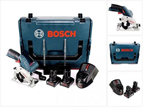 Bosch GKS 12V-26 Akku Handkreissäge 12V 85mm in L-Boxx + 2x 6,0 Ah Akku + Ladegerät