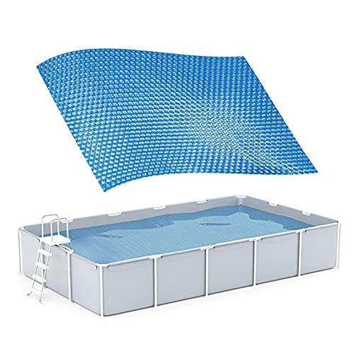 Pool Solarabdeckplane Solarfolie Solarplane Pool Rechteckig Solar Poolabdeckung Staubdichtes Schwimmen Wasser Party Pools Wärmedämmfolie für Pools (300x200cm)