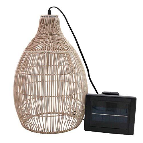 Holliday Solarleuchte, Bohemian, naturfarben, Geflochtener Stil, LED, warmweiß, Höhe 42 cm
