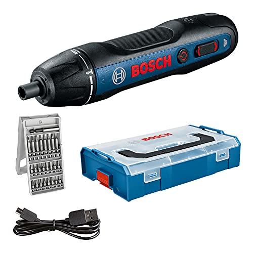 Bosch Professional Akkuschrauber Bosch GO (inkl. 25-tlg. Bit-Set, USB-Ladekabel, L-BOXX Mini) - Amazon...