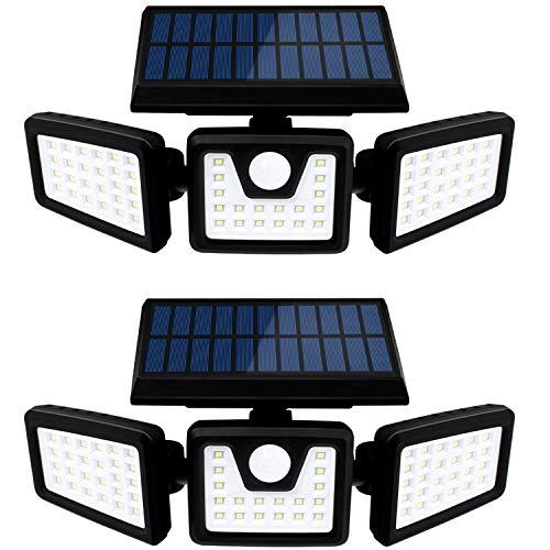 SEFON Solarlampen für außen mit Bewegungsmelder 70 LED Solarleuchten für außen IP65 LED Strahler Außen...