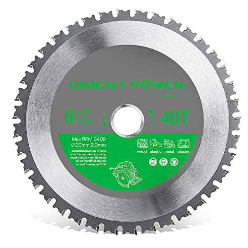 Diment Power Kreissägeblatt 165mm*20.23mm*40T zum Schneiden von Stahl, Aluminium, Holz, Kunststoff verwendet...