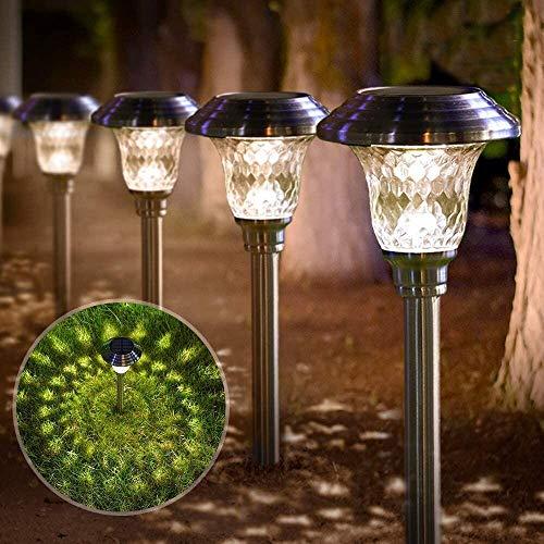 BEAU JARDIN 4 Solarleuchte Garten LED Outdoor Leuchten Garten Solar wasserdichte Strahler Leuchten für...