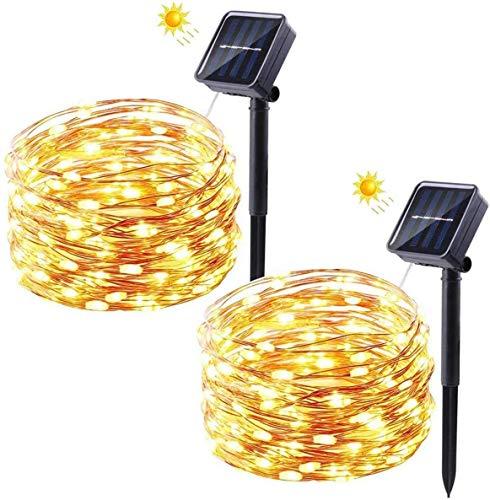 Solar Lichterkette Außen, FOCHEA 8M 50er LED Aussen Solar Lichterkette Kristall Kugeln 8 Modi IP65...