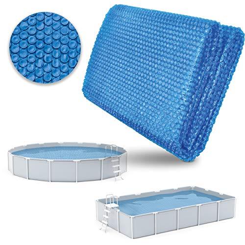 tillvex Pool Solarabdeckplane Rund Ø 366 cm | Solarfolie Stärke 120 µm | Solarplane zuschneidbar | Poolheizung für Wassererwärmung