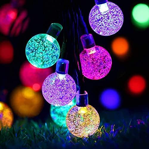 Solar lichterkette außen wetterfest, 50 LED lichterkette garten 8 Modi 7M / 24Ft Außer/Innen lampions solar außen für Garten, Bäume, , Hochzeiten, Partys , Weihnachten usw (Mehrfarbig)