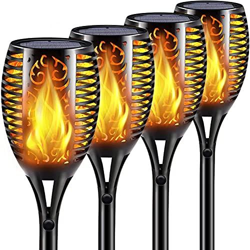 Nestling® Solar Gartenleuchte Fackel 96 LED Realistische Flamme Licht tanzen Effekt, IP65 wasserdichte...