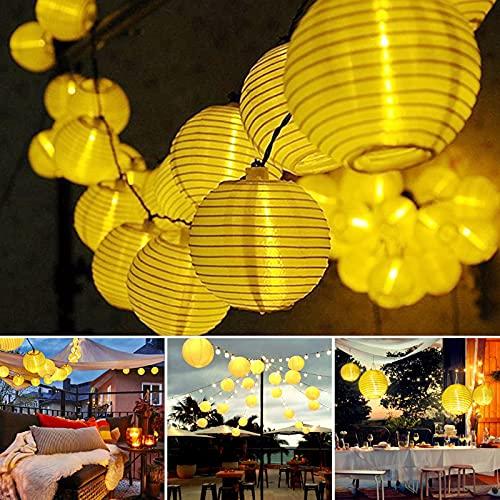 Dailyart Solar Lichterkette Auße 6.5M 30er LED IP65 Wasserdicht Solar Lichterkette Aussen Solar Lichterkette...