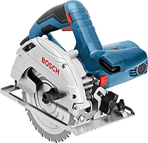 Bosch Professional Handkreissäge GKS 165 (1100 Watt, Schnitttiefe in Holz 47/66 mm (45°/90°), ohne Akkus...