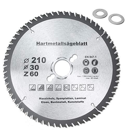 HM Multi Sägeblatt Ø120 Ø160 Ø185 Ø190 Ø210 Ø250mm x30mm Universal Kreissägeblatt (Ø 210 mm)