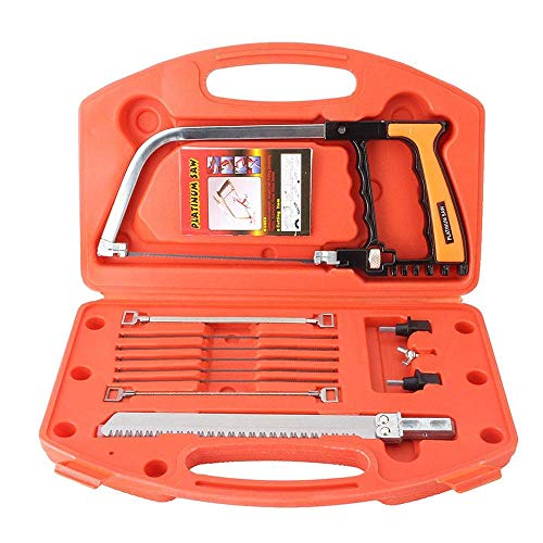 14-in-1 Mehrzweck-Bügelsäge, Universal-Handsäge-Set, Werkzeugkasten mit mehreren Klingen, als Bügelsäge, Kopiersäge, Bogensäge, Holzsäge, Stahlsäge