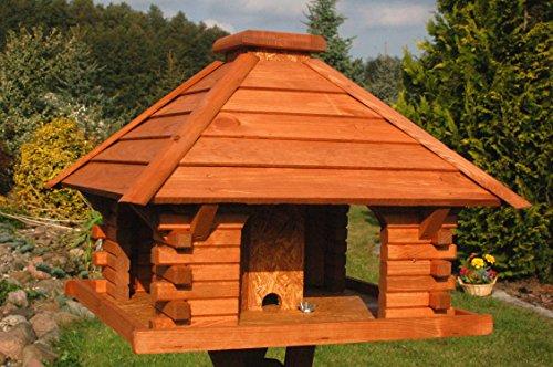 Deko-Shop-Hannusch Vogelhaus, Futterhaus, Vogelhäuschen, sehr stabil, behandelt