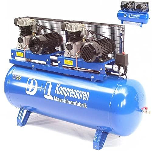 Werkstattkompressor Duo 1200L 2x600/11/270D 8PS Druckluft Kompressor 400V Kolben AWZ