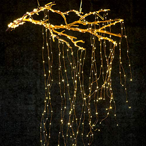 sdgfd LED Lichterbündel, Dekorative Twinkle Sternenlichter 10 Stränge 200 LED Wasserfall Baum Rebe Lichterketten Lichterketten Weihnachtslampen