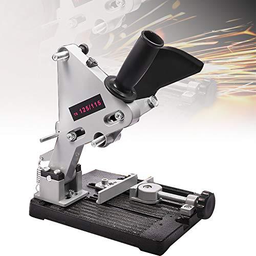 HIMABeauty Aluminium Halterung Eisen Basis Winkelschleifer Halter Unterstützung, Einstellbarer Trennständer für Winkelschleifer, 115-125mm