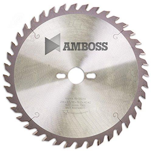 AMBOSS Werkzeuge - Hochwertiges Hartmetall Tischkreissägeblatt für Holz - Wechselzahn (80 Zähne) - Ø 254...