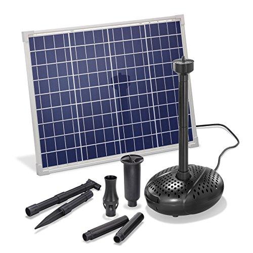 Solar Teichpumpe 50 Watt Solarmodul 2500 l/h Förderleistung 2 m Förderhöhe esotec pro Komplettset Gartenteich, 101917