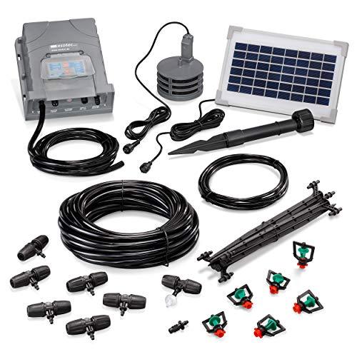 esotec Solar Bewässerungssystem WaterSprinkle Professional - automatische Bewässerung über bis zu 6 Wasser-Sprinkler - einfach und individuell anpassbar - für Garten und Kübelpflanzen (101121)