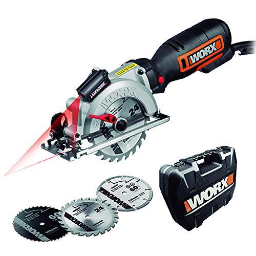 Worx WX427 Handkreissäge Worxsaw XL, 710W – Handtauchsäge mit bis zu 47mm Schnitttiefe für Sägearbeiten...