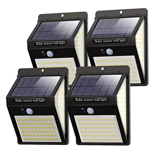 [4 Stück]Solarleuchten für Außen 140 LED,Litogo【2020 New version 】Solarlampen für Außen mit bewegungsmelder 1200mAh Wasserdichte LED Solarlampe 800LM 3 Modi 270° Solar Aussenleuchte für Garten Aussen