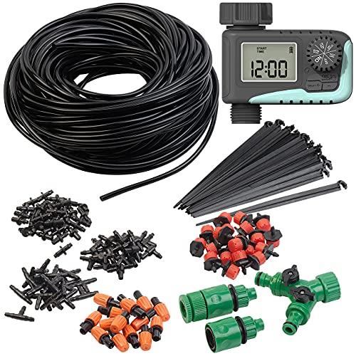 Royal Gardineer Bewässerungs-Systeme: Digitaler Bewässerungscomputer mit 136-teiliges Sprinkler Set (Automatische Bewässerungsuhr)