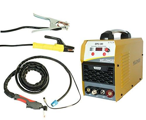 WELDINGER EPS180 Elektroden-Schweißinverter + Plasmaschneider Kombigerät 180A/45 A 5 Jahre Garantie