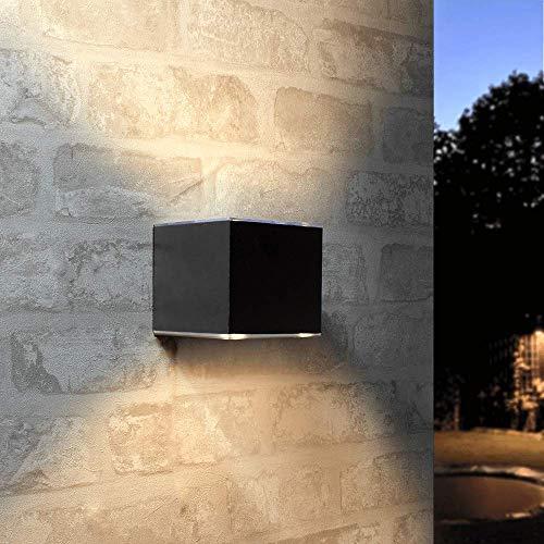 Solar LED Wandleuchte Up & Down Light für außen gerades Modell IP54 Schutz Aluminium