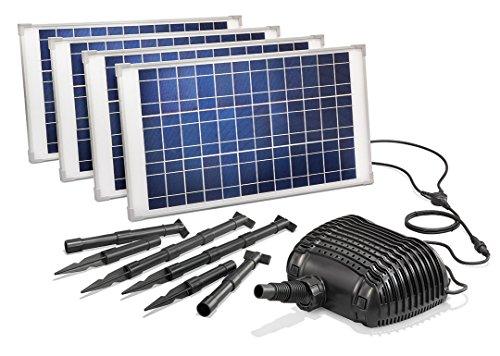 Solar Bachlaufpumpenset Lugano 100W Solarmodul 5000l/h Förderleistung Solarpumpe Wasserfall Pumpe Teich 101781