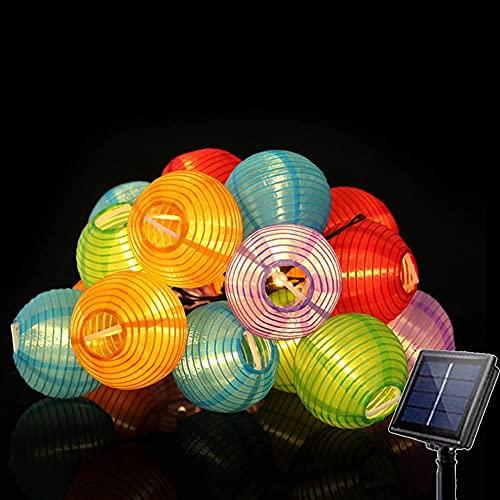DANSHEN 3,5M 10 LED Solar Lichterkette Lampions Außen, LED Lampion Lichterkette Außen, Wasserdicht Solar Beleuchtung für Garten, Balkon, Hof, Hochzeit,Weihnachten,Party Deko