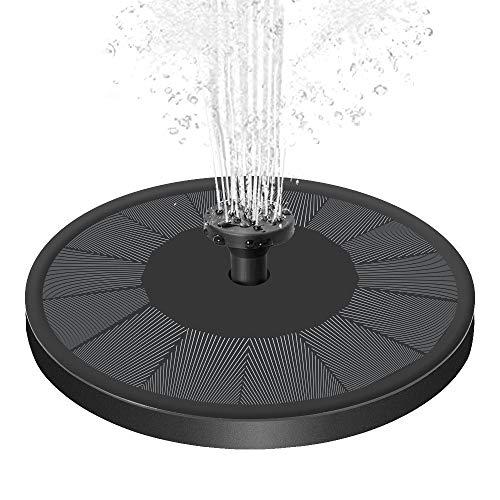 Senders Solar Springbrunnen, Solar Teichpumpe mit 3.5W Solar Panel Garten Wasserpumpe Solar Schwimmender...