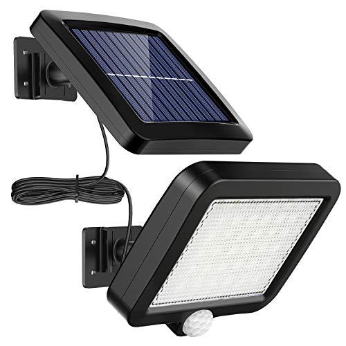 Solarlampen für Außen, MPJ 56 LED Solarleuchte Aussen mit Bewegungsmelder, IP65 Wasserdichte,...