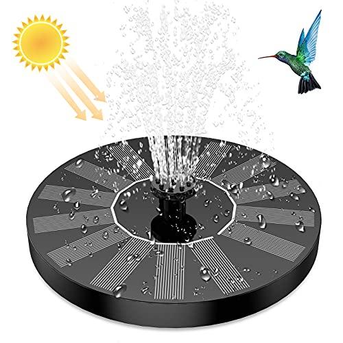 AISITIN Solar Springbrunnen, Update Solar Teichpumpe mit 6 Effekte Solar Wasserpumpe Solar schwimmender Fontäne Pumpe für Gartenteich Oder Springbrunnen Vogeltränke Fischbecken