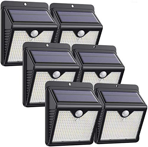 Solarlampen für Außen,【6 Stück】iPosible 150 LED Solar Bewegungsmelder Aussen 2000mAh Solarleuchten für...
