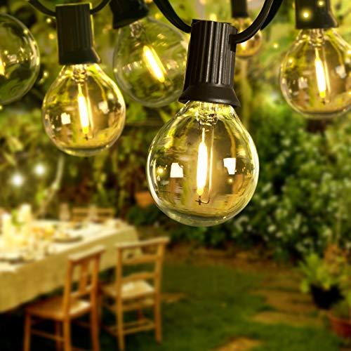 Lichterkette Außen, 6.8M 16 LEDs mit 3 Ersatz-LEDs Warmweiß Lichterkette Glühbirnen Beleuchtung G40 für Xmas Garten Terrasse Hochzeit Hof Haus Party Dekoration [Energieklasse A++++]