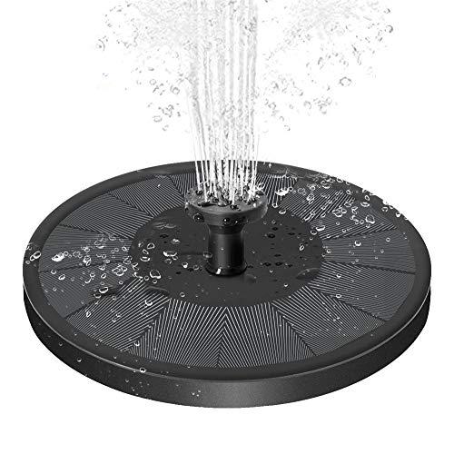 Solar Springbrunnen, 3.5w Solar Teichpumpe mit 900mAh Akku Solarbrunnen Solarpumpe für Außen mit 7 Düse, Solar Schwimmender Fontäne Pumpe für Vogelbad, Fisch-Behälter, Teich