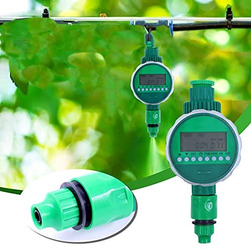 Bewässerungscomputer WiFi,Bewässerungscomputer,Automatische Bewässerungsuhr Wasserdichter mit Bewässerungsprogramme & LCD Display für Garten Gewächshaus Landwirtschaft usw