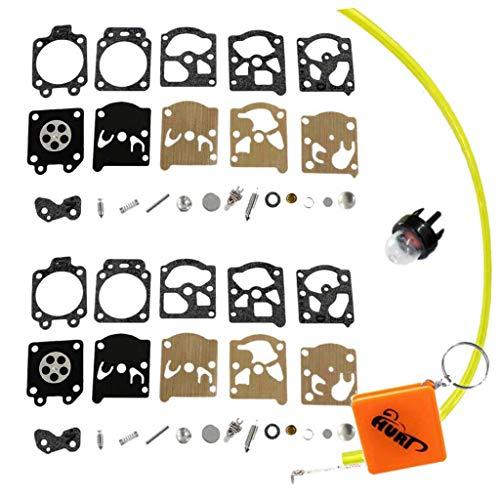 HURI 2 Stück Reparatursatz (23 Teile) Kit Membran Filter Ventile Federn für Walbro WA & WT Vergaser Echo...