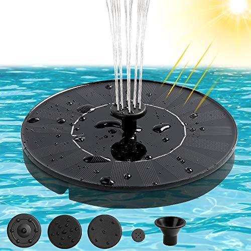 infinitoo Solar Springbrunnen 1.4W Solar Teichpumpe Solarpumpe für Vogeltränke Garten Teich,...