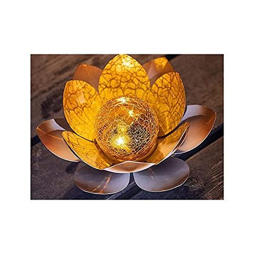 Mtawou Solarleuchten für Aussen, Lotus Licht LED wasserdicht Rasenleuchten Außenstecker, Gartenbeleuchtung Landschaftsbeleuchtung